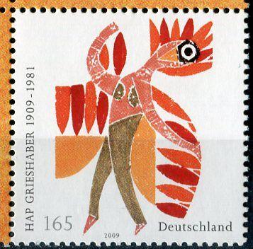 (2009) MiNr. 2722 ** - Německo - 100. narozeniny HAP Grieshaber