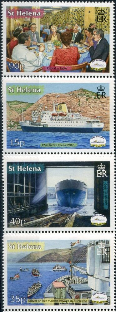 "(2010) MiNr. 1128 - 1131 ** - Svatá Helena - 20 let Dodávky a parník RMS ""St. Heleny """