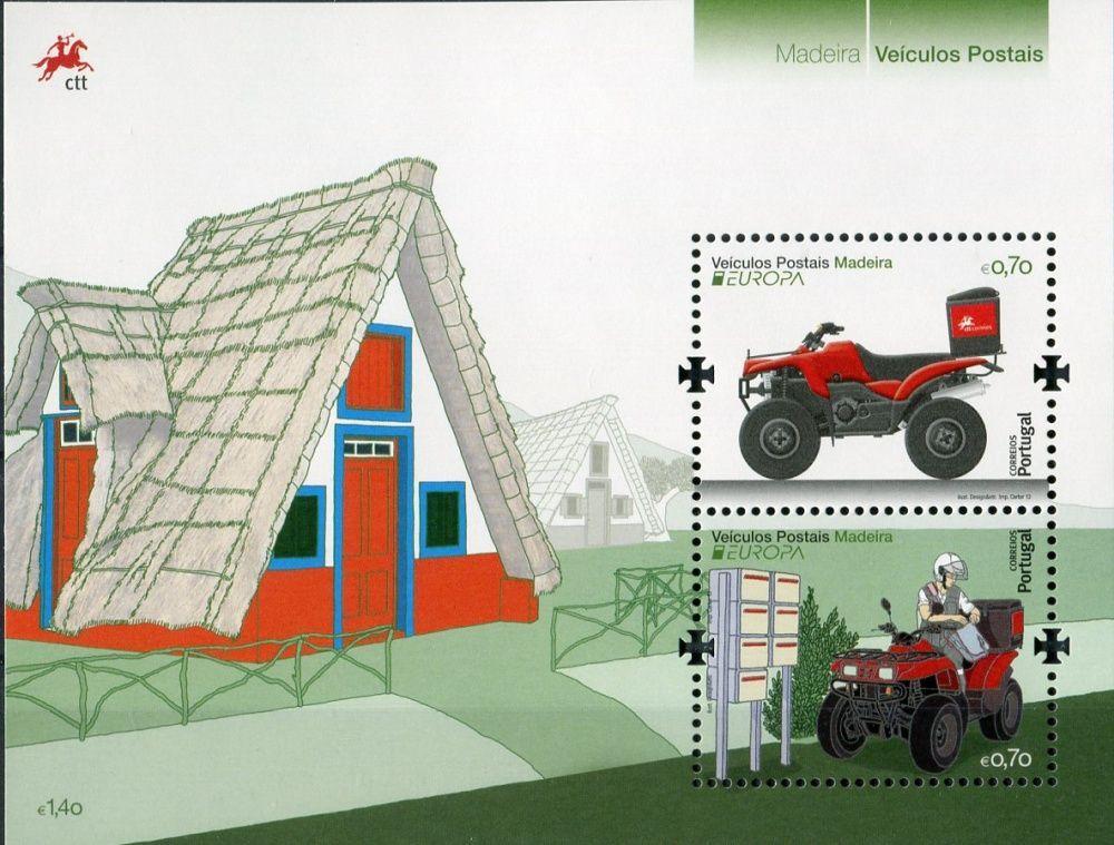 (2013) MiNr. 325 ** - Portugalsko Madeira -  BLOCK 55 - Europa: Vozidla pošty
