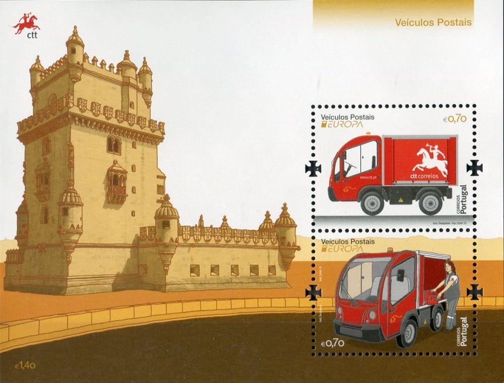 (2013) MiNr. 3844 ** - Portugalsko - BLOCK 345 - Europa: Poštovní vozidla