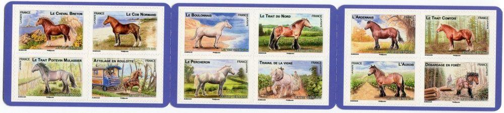 (2013) MiNr. 5543-5554 ** - Francie - Sada - Tažní koně