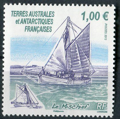 "(2013) MiNr. 802 ** - Francouzská Antarktida - Segler ""Le Mischief"""