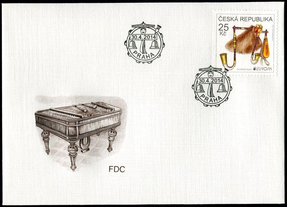 (2014) FDC 805 - EUROPA - Chodské dudy