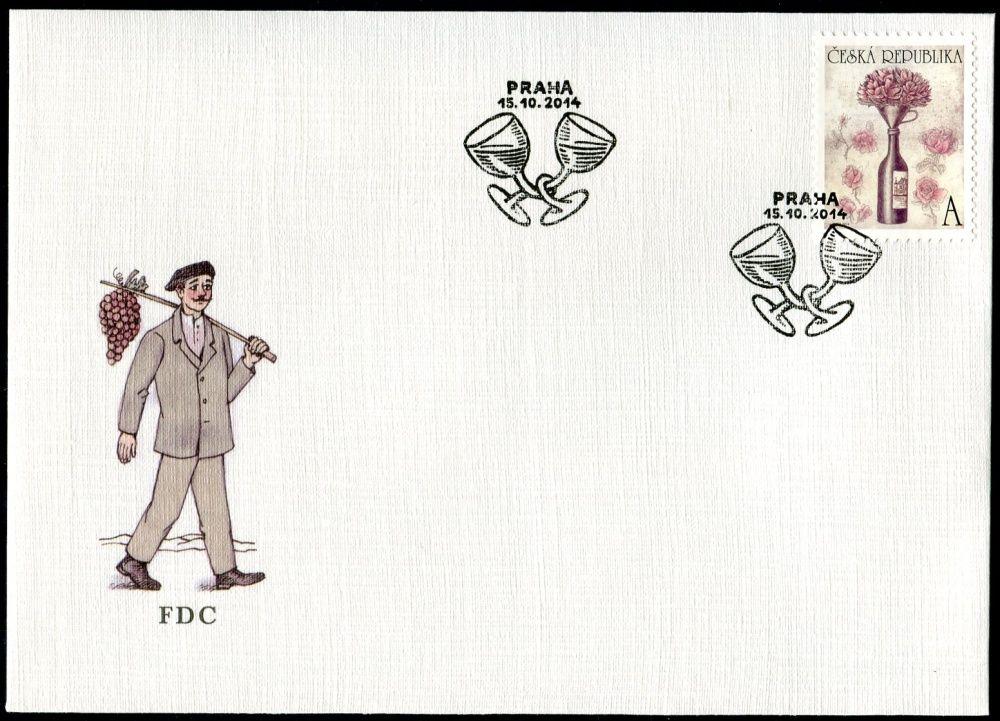 """Česká pošta (2014) FDC 822 - Bouquet """"A"""""""