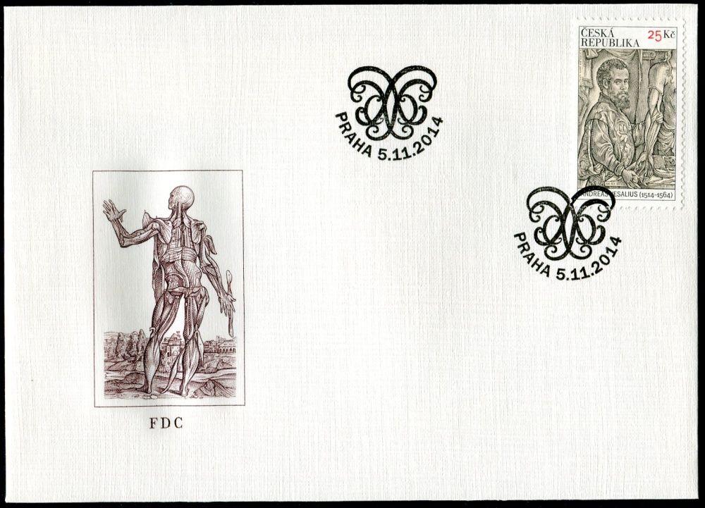 Česká pošta (2014) FDC 823 - Andreas Vesalius