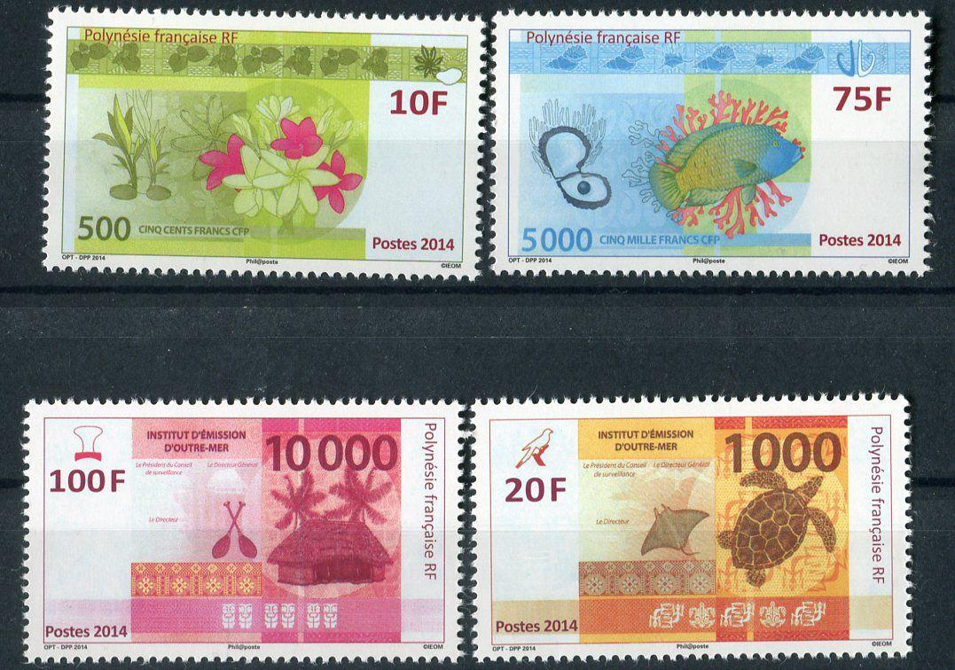 (2014) MiNr. 1248 - 1251 ** - Fr. Polynesie - Vydávání nových bankovek