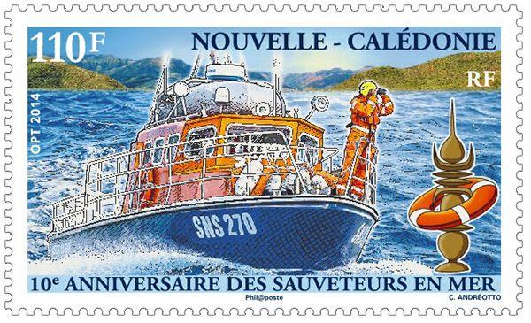 (2014) MiNr.  1653 ** - Nová Kaledonie - 10 let služby záchranného člunu