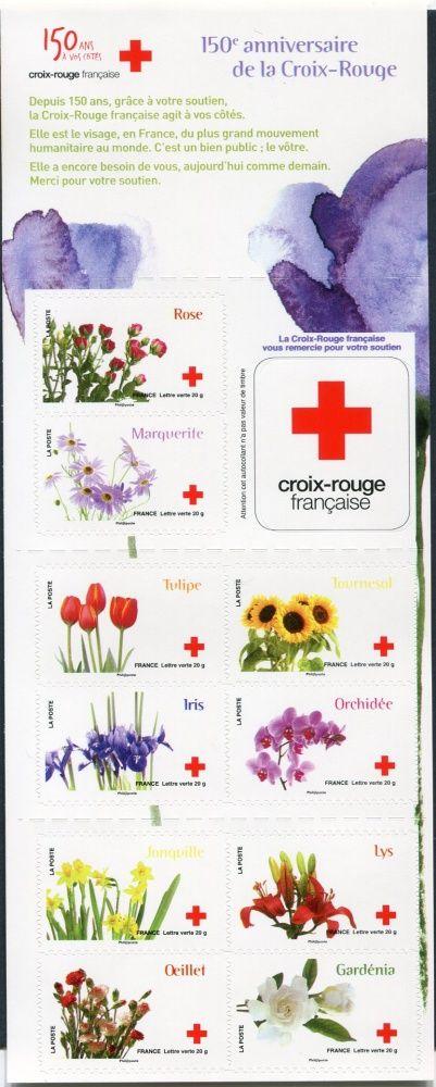 (2014) MiNr. 5842-5851 ** - Francie - Sada - Červený kříž: Květiny