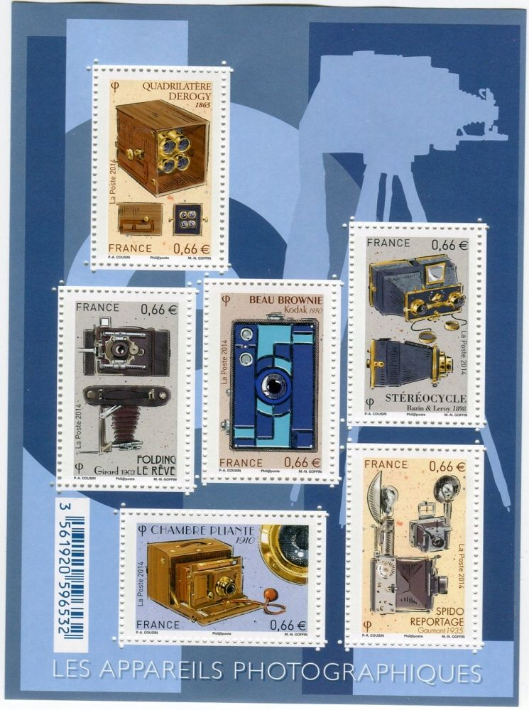 (2014) MiNr. 6038-6043 ** - Francie - BLOCK 273 - Fotoaparáty