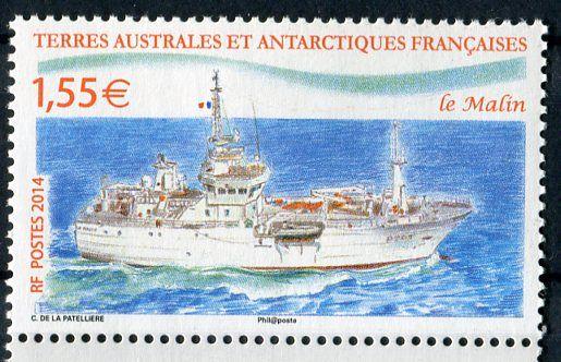 "(2014) MiNr. 853 ** - Francouzská Antarktida - plavidlo ""Le Malin"""