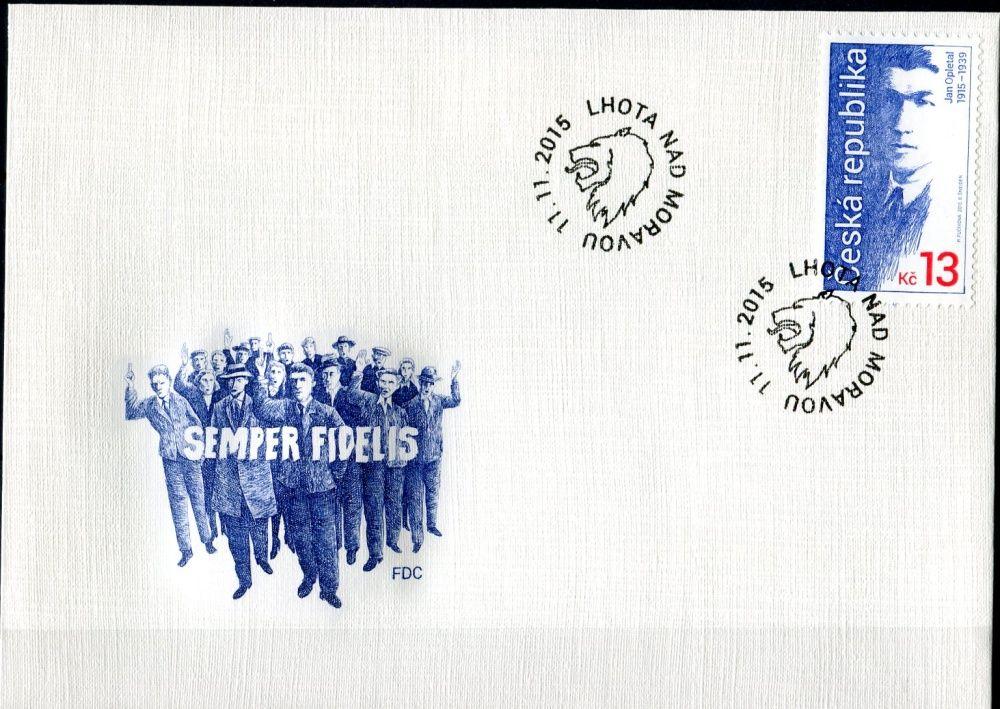 Česká pošta (2015) FDC 868 - Jan Opletal