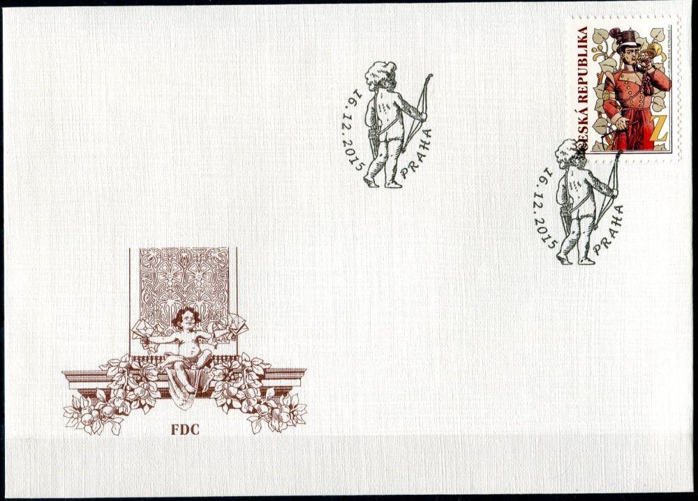 """(2015) FDC 872 - Poštovnictví v dobové fresce """"Z"""""""