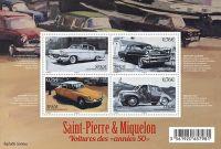 (2015) MiNr. 1226-1229 ** - BLOCK 23 - Saint Pierre a Miquelon - Auta z padesátých let