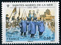 (2015) MiNr. 6110 ** - Francie -  700 let poutí Saintes-Maries-de-la-Mer