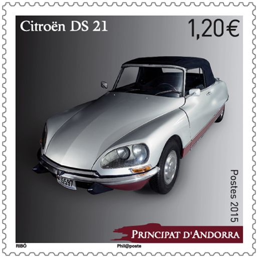 (2015) MiNr. 786 ** - Andora (Fr.) - Automobil - Citroën DS 21