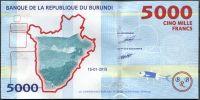 Burundi - (P 53)  5 000 Francs (2015) - UNC