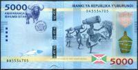 Burundi - (P )  5 000 Francs (2015) - UNC