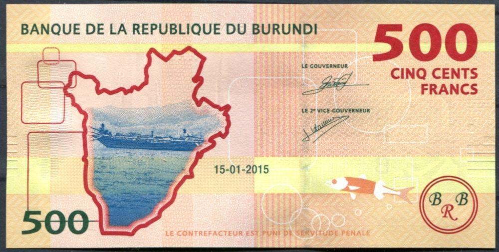 Burundi - (P )  500 Francs (2015) - UNC