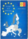 Karta na mince na 1 euro set - Andorra