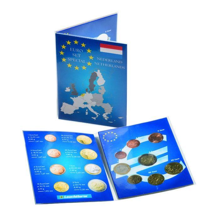 Karta na mince na 1 euro set - Nizozemsko