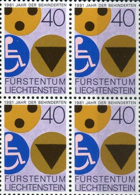 (1981) MiNr. 774 ** - 4-bl - Lichtenštejnsko - Mezinárodní rok pro invalidy