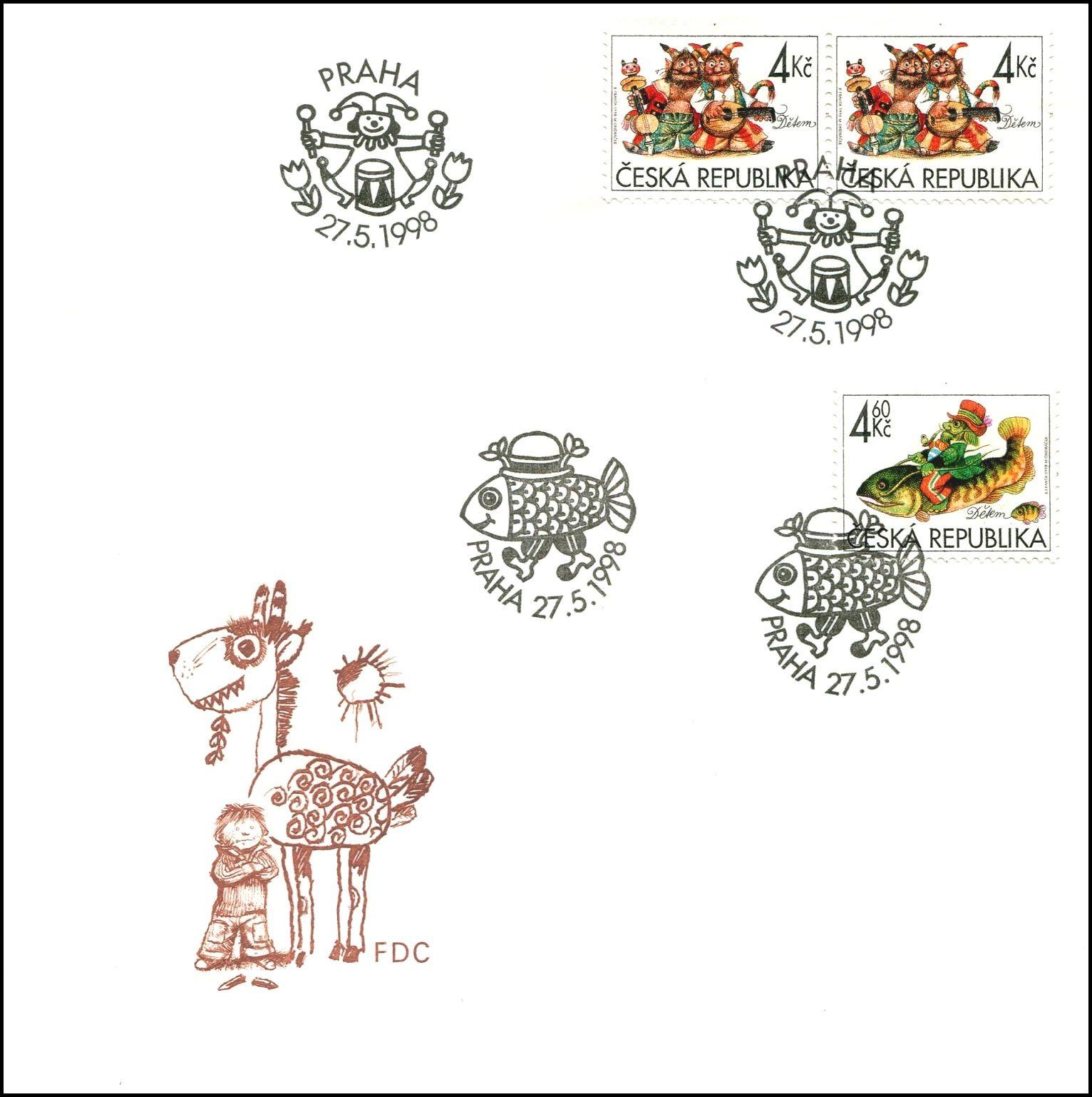 Česká pošta (1998) FDC 189 - 190 - Dětem