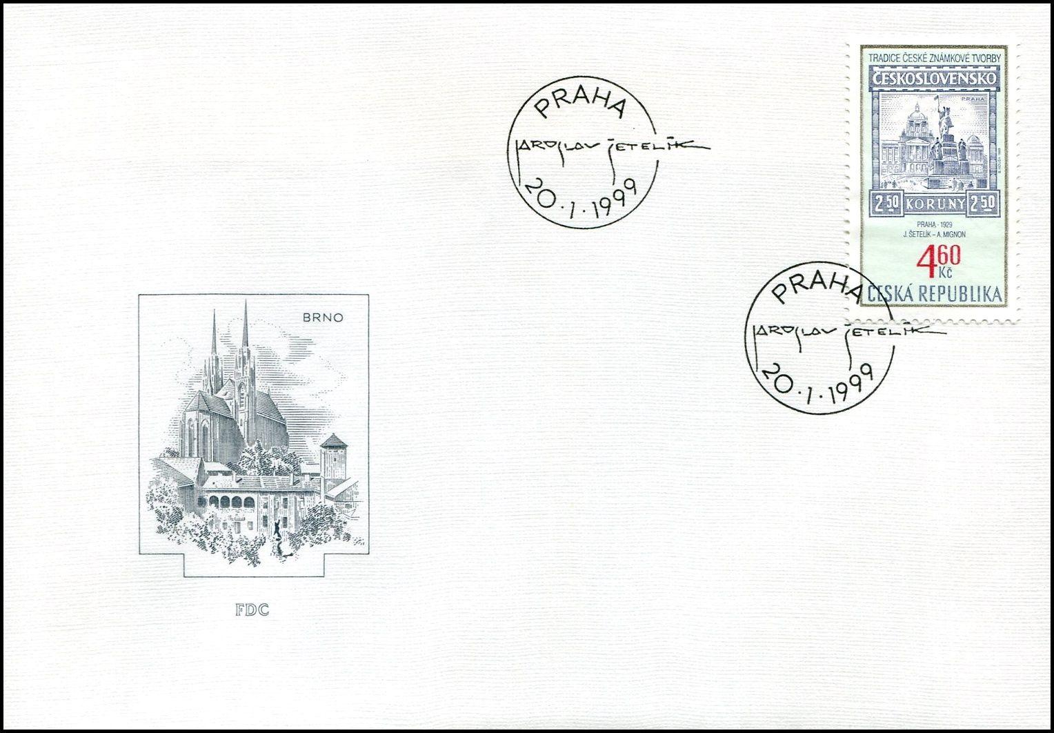 (1999) FDC 204 - Tradice české známkové tvorby