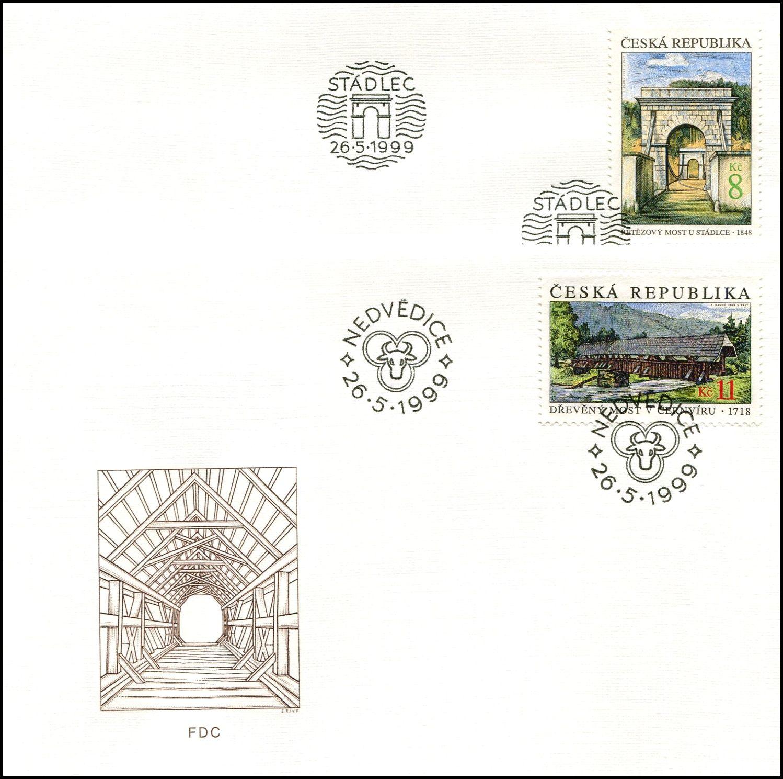 (1999) FDC 220 - 221 - Krásy naší vlasti (2)