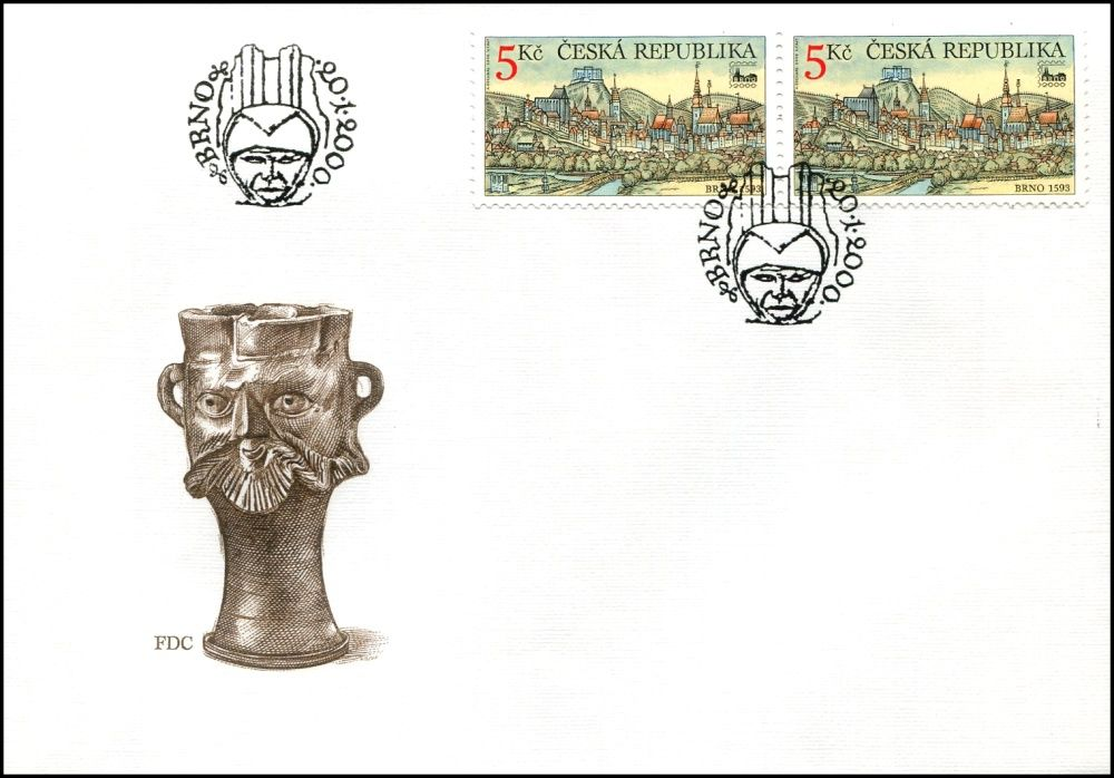 Česká pošta (2000) FDC 244 - Brno 2000