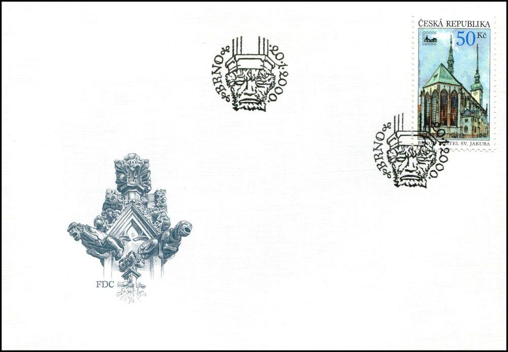 Česká pošta (2000) FDC 245 - Brno 2000