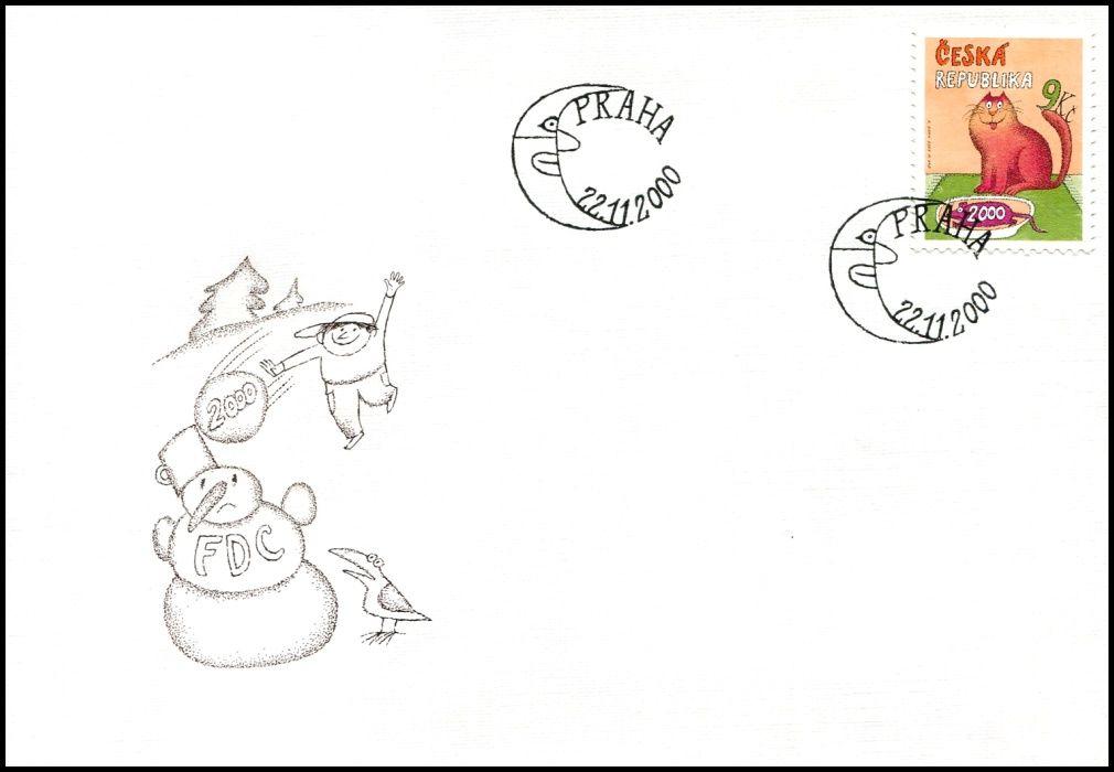 (2000) FDC 279 - Poslední známka tisíciletí
