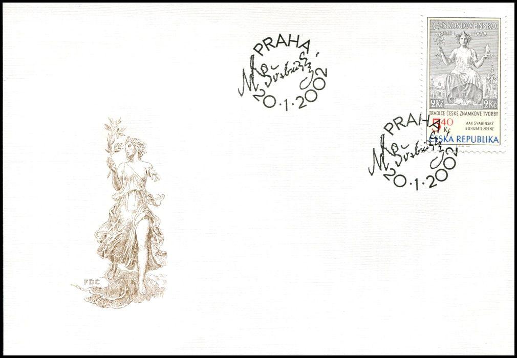 (2002) FDC 313 - Tradice české známkové tvorby