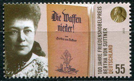 (2005) MiNr. 2495 ** - Německo - 100. výročí udělení Nobelovy ceny za mír Bertha von Suttner