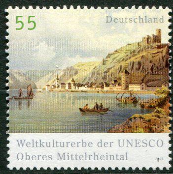 (2006) MiNr. 2536 ** - Německo - Světové dědictví UNESCO (XIV): údolí horního Rýna