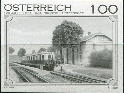 (2009) MiNr. 2833 - Rakousko - černotisk - Železnice (XI): 120 let místní železnice