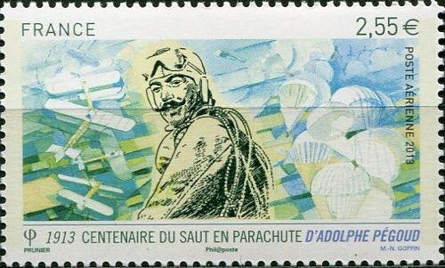 (2013) MiNr. 5593 ** - Francie - 100. výročí prvního seskoku z letadla
