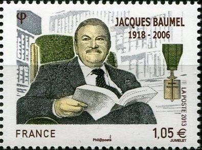 (2013) MiNr. 5595 ** - Francie - 95. výročí narození Jacquese Baumel