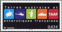 (2013) MiNr. 833 ** - Francouzská Antarktida - Státní symboly