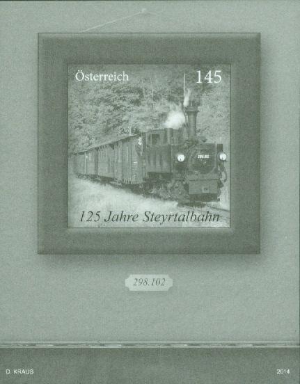 (2014) MiNr. 3157 - Rakousko - černotisk - 125 let Steyrtalbahn