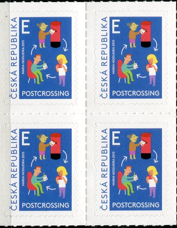 (2015) č. 859 ** - Česká republika - Postcrossing - samolepící