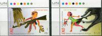 (2015) MiNr. 1489 - 1490 ** - OSN New York - UNICEF kampaň proti násilí na dětech