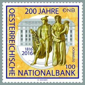 (2016) MiNr. 3243 ** - Rakousko - 200 let Rakouské národní banky