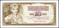 Jugoslávie - (P82b) 10 DINARA 1968 - UNC