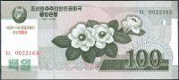 Severní Korea (P CS12) - 100 wonů (2012) - UNC - přítisk
