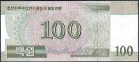 Severní Korea (P ) - 100 wonů (2014) - UNC - přítisk