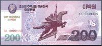 Severní Korea (P CS13) - 200 wonů (2013) - UNC - přítisk