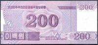 Severní Korea (P ) - 200 wonů (2014) - UNC - přítisk