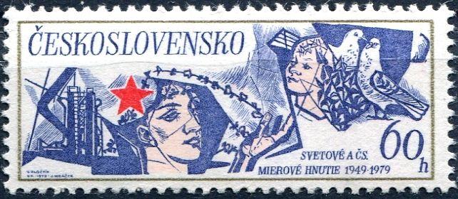 (1979) č. 2370 ** - ČSSR - 30 let světového a čs. mírového hnutí