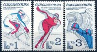 (1980) č. 2415 - 2417 ** - Československo - XIII. ZOH v Lake Placid 1980