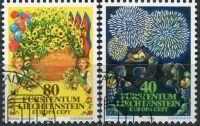 (1981) MiNr. 764 - 765 O - Lichtenštejnsko - Europa: Folklor